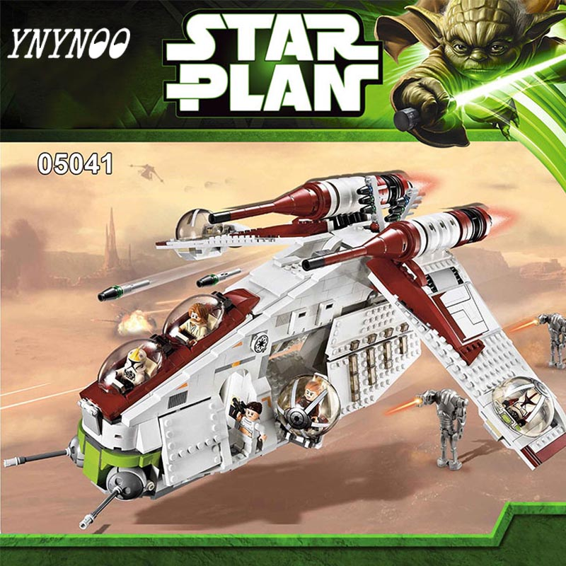(YNYNOO) 05041 Star War Rogue One Series The The Republic Gunship Set Figures Educational Building Blocks Bricks Toys 75021 herbert george wells the war of the worlds