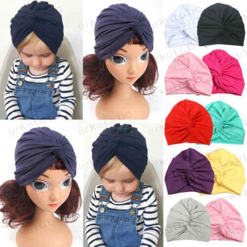 US น่ารักทารกแรกเกิดเด็กวัยหัดเดินเด็กทารกเด็กผู้หญิง Cross Twisted หมวก Turban หมวกผ้าฝ้าย Beanie หมวกฤดูหนาว