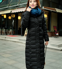 Women Clothing Long Down Jacket Women Slim Genuine Long Thick Warm Winter Coat Plus Size Ladies