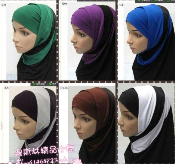 crystal single muslim girls Amira style easy to wear, suit for office/school daily wear one-piece-design, perfect for teenager or junior to learn wear hijab extra lace layer with rhinestones forehead make it elegant and delicate | ebay.