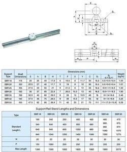 Image 5 - 3 zestawy prowadnica liniowa SBR16 L 300/700/1100mm i SFU/RM1605 350/750/1150mm śruba pociągowa z nakrętką i BK/B12 i łącznikiem do routera CNC