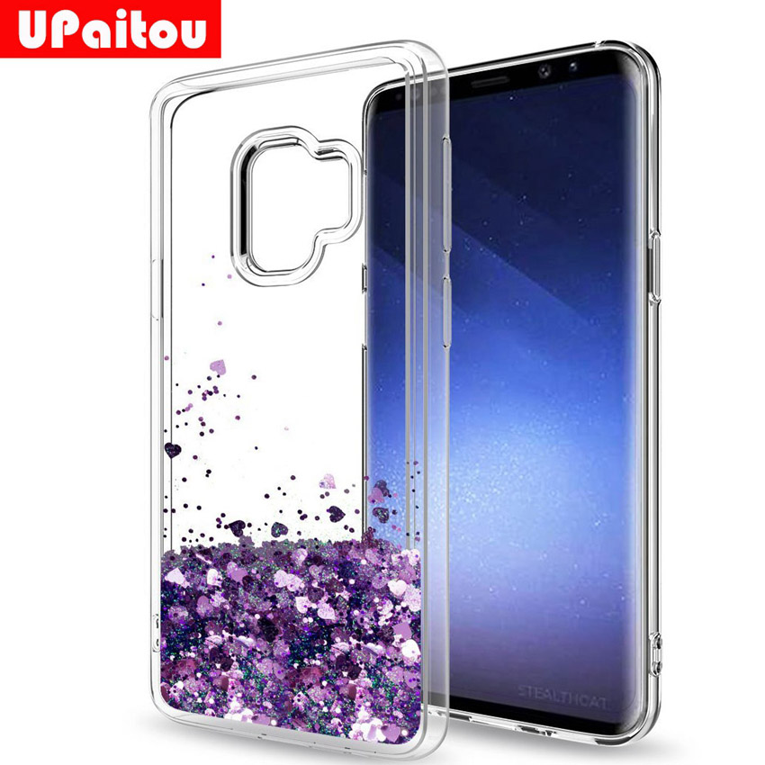 UPaitou for Samsung Galaxy S9 S8 Plus S6 S7 Edge Note 5 8 Case Flowing  Liquid Luxury Girl s Bling Glitter Sparkle TPU Case Cover d1a008c6df46
