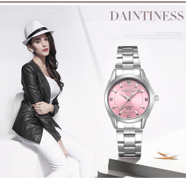 5 Fashion colors CHENXI CX021B Brand relogio Luxury Women's Casual watches waterproof watch women fashion Dress Rhinestone watch 1