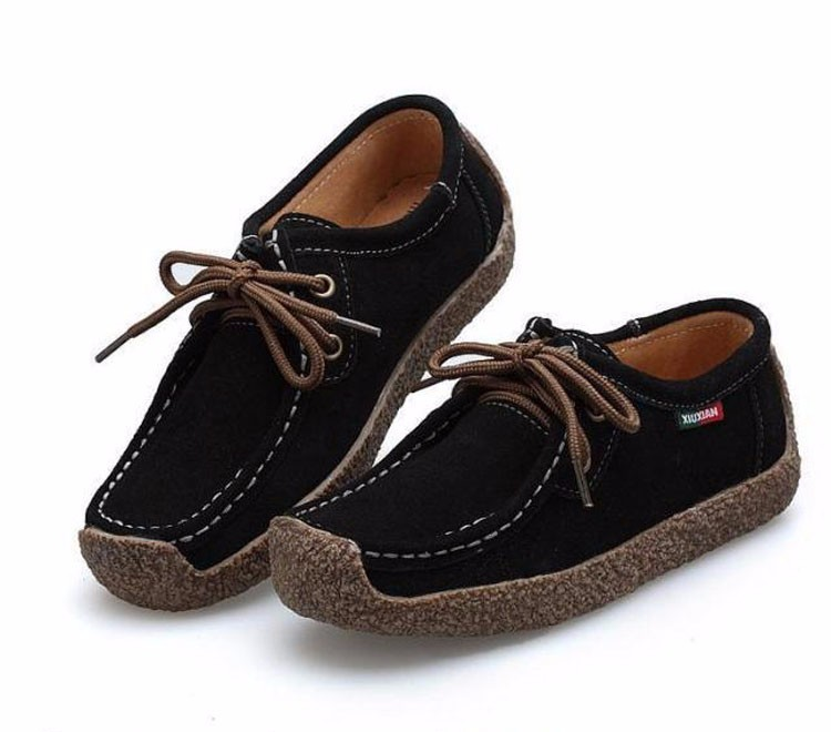 Hot Sale 2016 Winter Warm Women Flats Leisure Solid Comfortable Women Casual Shoes New Fashion Wild Lace-up Ladies Shoes SDT90 (10)