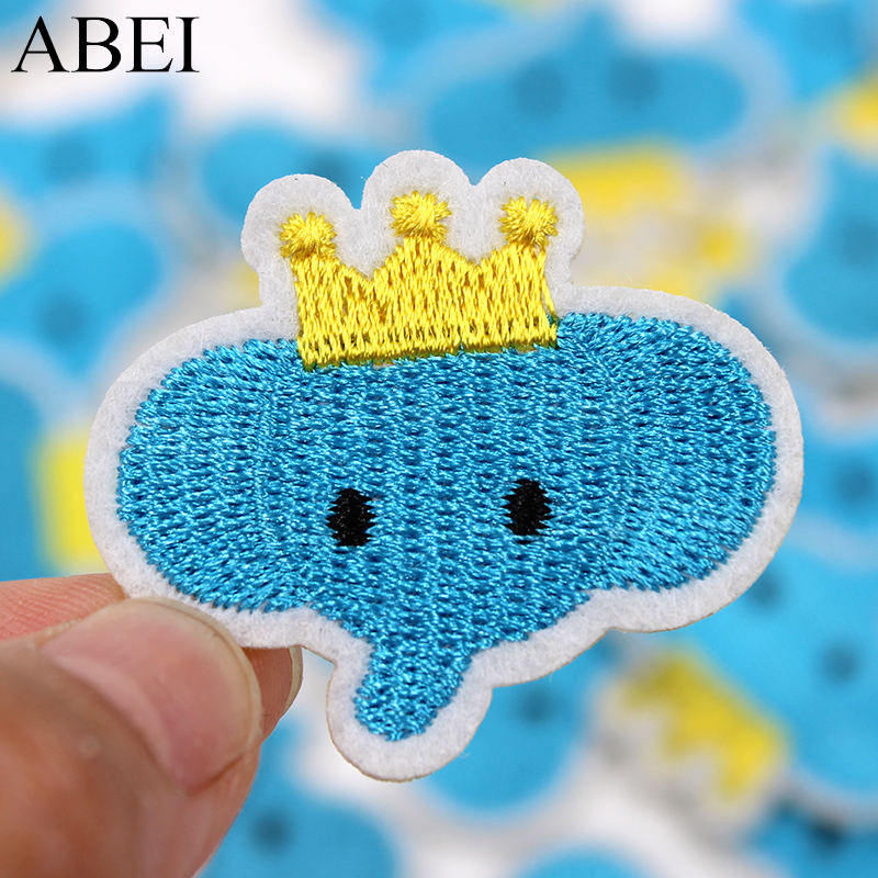 10pcs/lot Diy Baby Clothes Cartoon Stickers Iron On Elephant Patches Sew On Backpack App ...