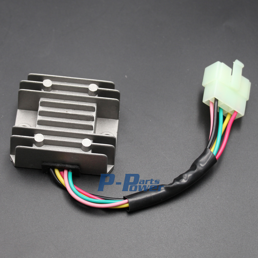 hight resolution of voltage regulator rectifier 5 wires 5 pin 12v gy6 scooter atv 50cc 125cc 150cc new in motorbike ingition from automobiles motorcycles on aliexpress com