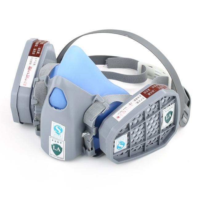 Alta calidad Media cara máscara de Polvo Del respirador de la máscara De Gas equipo de Protección anti-cloro Orgánico/gas/Aerosol máscara de pintura