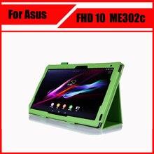 Para asus memo pad fhd 10 me301t me302 me302c me302kl case 10.1 pulgadas tablet cubierta protectora de la pu + stylus