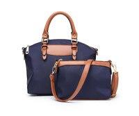 Luxury Women 2PCS Tote Crossbody Messenger Bags Waterproof nylon Women's Handbags Bolsas Female Bag purse bags