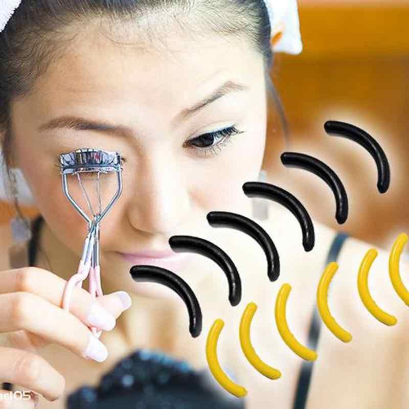 16 pièces tampons de recharge pour recourbe-cils meilleurs coussins en caoutchouc de remplacement lavables pour Mascara Eyeliner ou colle cils tachés