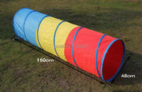 1pc rainbow fun kids crawl crawling tunnel games toys children teenage PE physical training team sports activity