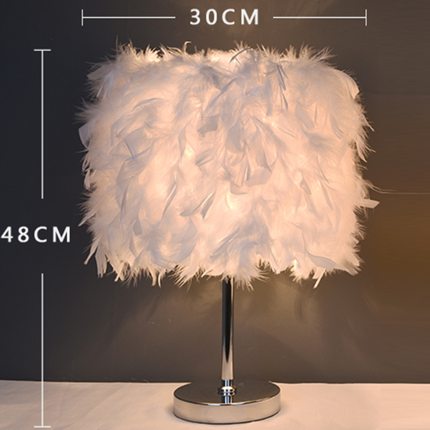 Nordic LED Standing Lights colored feather LED floor lamp bedroom living room floor lights bedside lighting deco Standing Lamp in LED Table Lamps from Lights Lighting