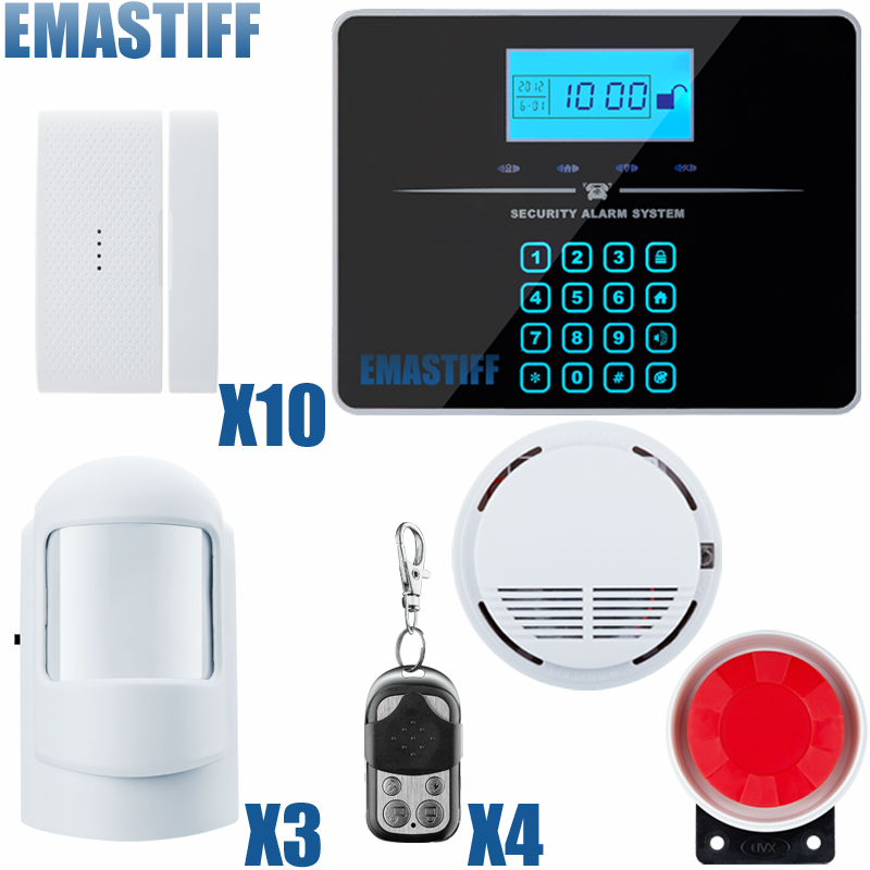 Touch Keypad Wireless wired GSM PSTN Quad4 Band SMS Home Security Voice Burglar Alarm System Auto Dial ios android app lcd smart touch keypad wireless wired gsm pstn quad4 band sms home security voice burglar alarm system auto dial