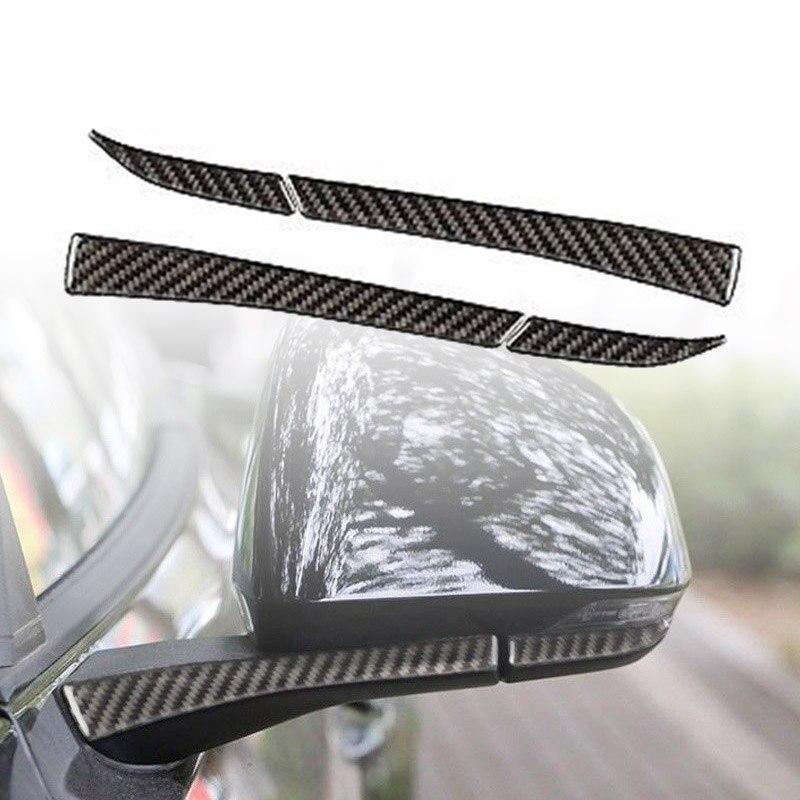 >4pcs/ set Carbon Fiber+ Epoxy Coating Car Side Rearview Mirror Sticker Trim Mouldings <font><b>Strip</b></font> <font><b>For</b></font> <font><b>Ford</b></font> Mustang 2015-2017