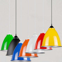 110 250v bedroom restaurant bar office lamp shade E27 lampshade light shade lamp cover black red yellow blue white orange green