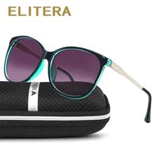ELITERA Brand Star Style Luxury Female Sunglasses Women Oversized Sun Glasses Vintage Outdoor Sunglass Oculos de sol 3006 cheap Eyewear 60 mm Mirror UV400 E3006 48 mm Round Polycarbonate Plastic Adult
