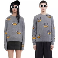 New Fashion 2017 Spring Autumn Women Brand Wool Pullovers lovers couple's paired Men Sweaters Pullovers