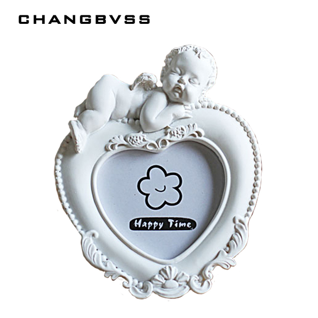 European Style White Photo Frame for Kids Baby,Creative Lovely Heart ...