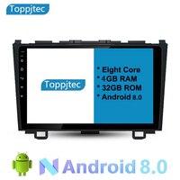 9 Восьмиядерный Android 8,0 4G Оперативная память 1024*600 автомобиля gps навигации автомобиля Радио автомобилей honda crv 2008 2009 2010 2011 с Полный сенсорный э