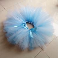 Girls Dance Skirt Ballet Tutu fluffy blue and white color baby cute tutu skirt toddler girls skirt