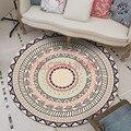 Персидский этнический мандала  круглый ковер  гостиная  цветы  европейская спальня  круглый ковер  декоративная зона  коврик для двери стула