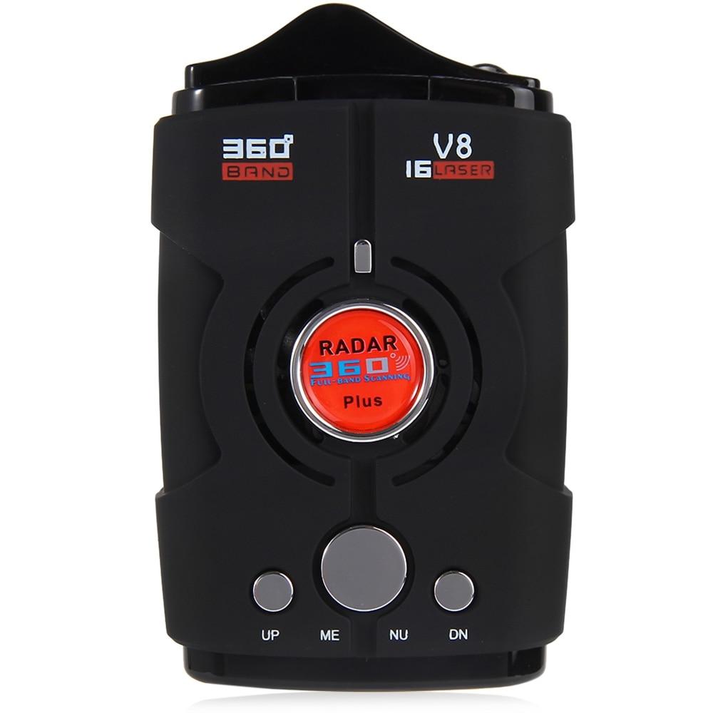 guaranteed 100 v8 car radar detector 16 band russia english version led display black. Black Bedroom Furniture Sets. Home Design Ideas