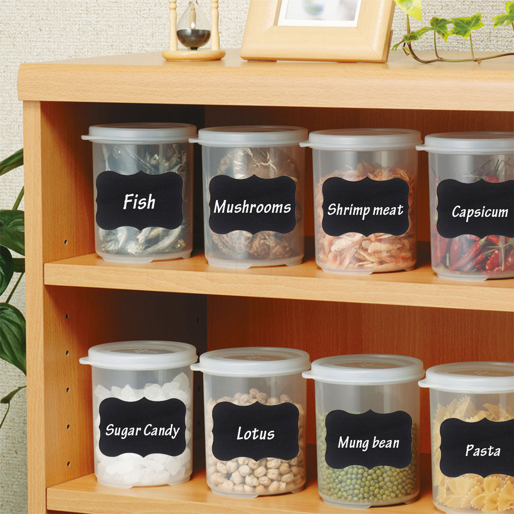 compare prices on black kitchen canister online shopping buy low 36pcs set black stickers labels kitchen jar organizer handwritten chalkboard labels canisters cute wall sticker