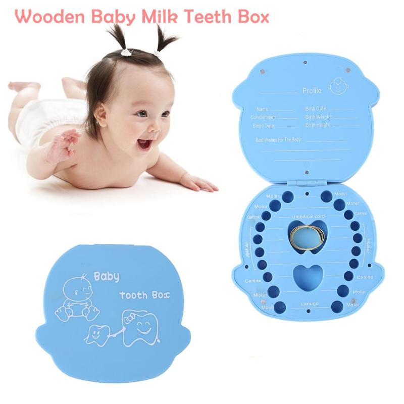 Baby Tooth Box Organizer Milk Teeth Storage Collect Teeth Cartoon Cute Organizer Box
