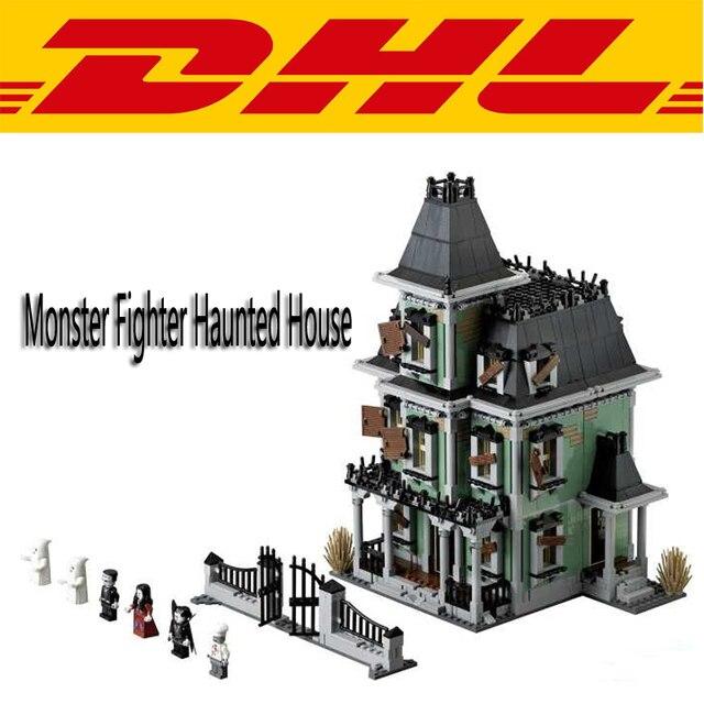 2017 Nueva Ciudad Monster Fighter Casa Embrujada 2141 Unids Kits de Edificio Modelo Bloques de Ladrillo Compatible Juguete Para Niños de Regalo Con 10228