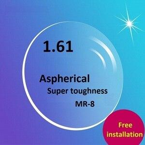 Image 1 - MR 8 de resina resistente a las manchas, lentes de PC súper resistentes, antiradiación, resistentes al desgaste, lentes asféricos recubiertos, 1,61