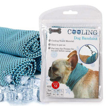 Instant Ice Cooling Dog Bandana Scarf For Pet Small Dogs Bulldog Summer Polyester Sunstroke Neck Wrap Collar Perro