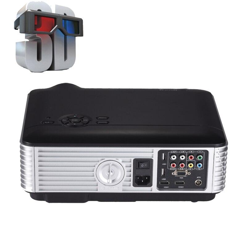 Full HD 3D proyector de cine en casa cine LED / LCD HDMI VGA AV TV VGA HD