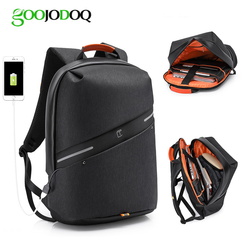 Waterproof Backpack Laptop Bag for Macbook Pro 13 Air 15 Case Mochila Laptop Sleeve Funda Portatil 15.6 with USB Charger Port