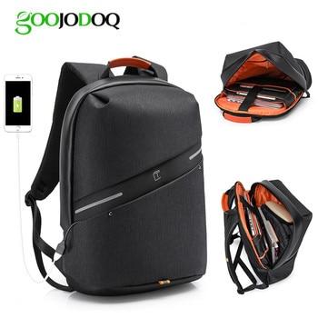 Waterproof Backpack Laptop Bag for Macbook Pro 13 Air 15 Case Mochila Laptop Sleeve Funda Portatil 15.6 with USB Charger Port