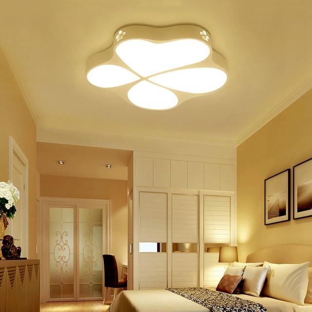 US $40.9 40% OFF|Moderne einfache wohnzimmer led deckenleuchte, blume  geformt foyer baby kinderzimmer schlafzimmer lampe studie restaurant kuppel  ...