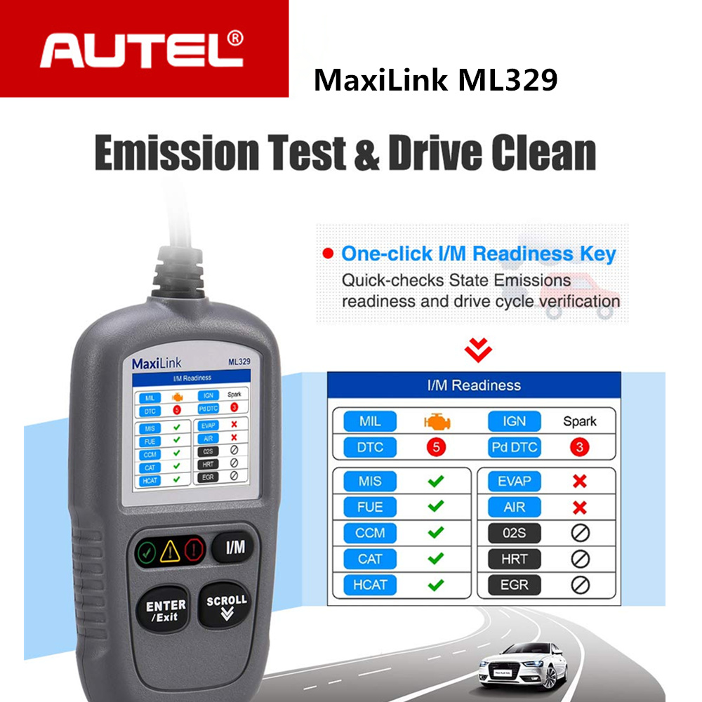 Autel Maxilink Ml329 Code Reader Auto Obd2 One-click I/m Key Autovin Automative Diagnostic Tool Update Versie Van Al319 Zorgvuldig Geselecteerde Materialen