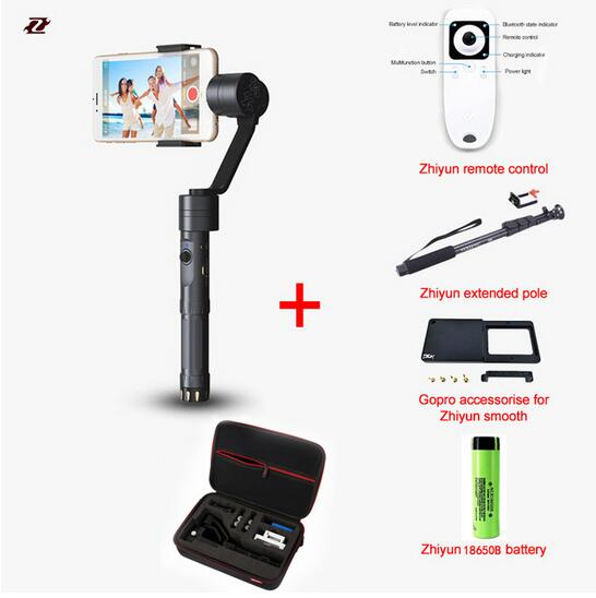 Zhiyun Smooth 2 / zhiyun z1 II 3 Axis Brushless Handheld smartphone Stabilizer for iPhone 6 plus Free Ship PK Smooth C
