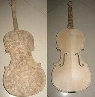 Unfinished Violin White blank handmade bird eye maple violin 4/4 solid wood violin 3/4 natural pattern violin Factory wholesale