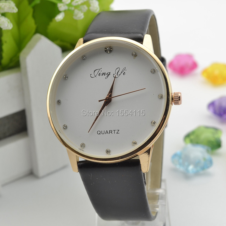 DHL Free Shipping New Men Women leather Watch  Lady's Dress Watch Hot Sell  Christmas Gift Watch Wholesale