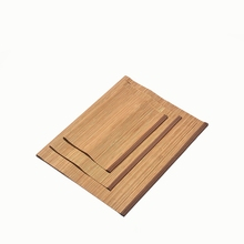 Natural Bamboo Coaster Tea Set Hand Made Heat Resistant Mat Traditional Chinese Ceremony Accessories Placemats