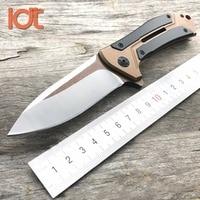 LDT 0801 CF Ball Bearing Folding Knife D2 Blade Steel Carbon Fiber Handle Knife Camping Hunting