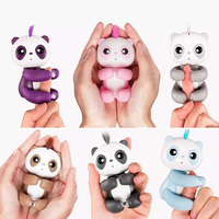 Do Dower 6 Colors Sounding Fingertip Panda Smart Touch Electronic Pets Mini Educational Interactive Toys For