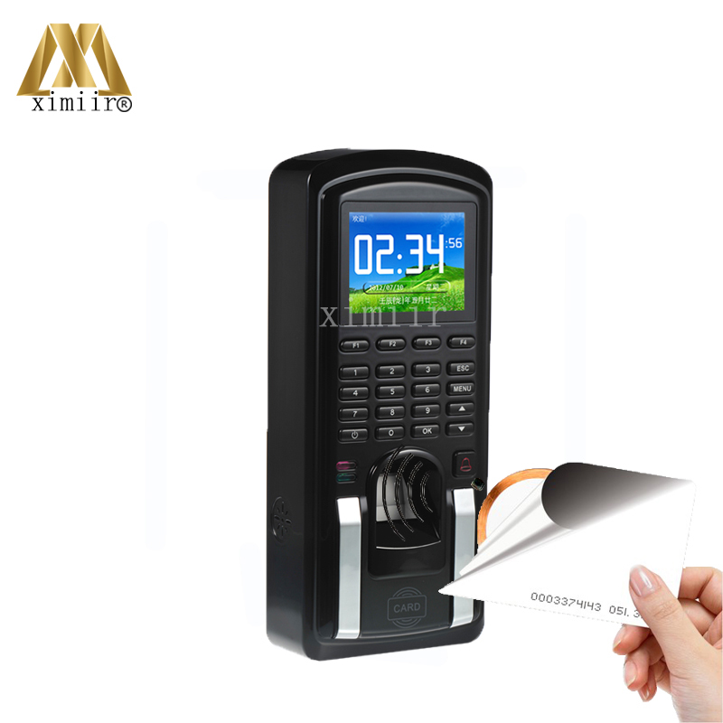 Free Shipping Fingerprint Time Attendance And Access Control TCP/IP Fingerprint And 125KHZ RFID Card Door Access Control System купить