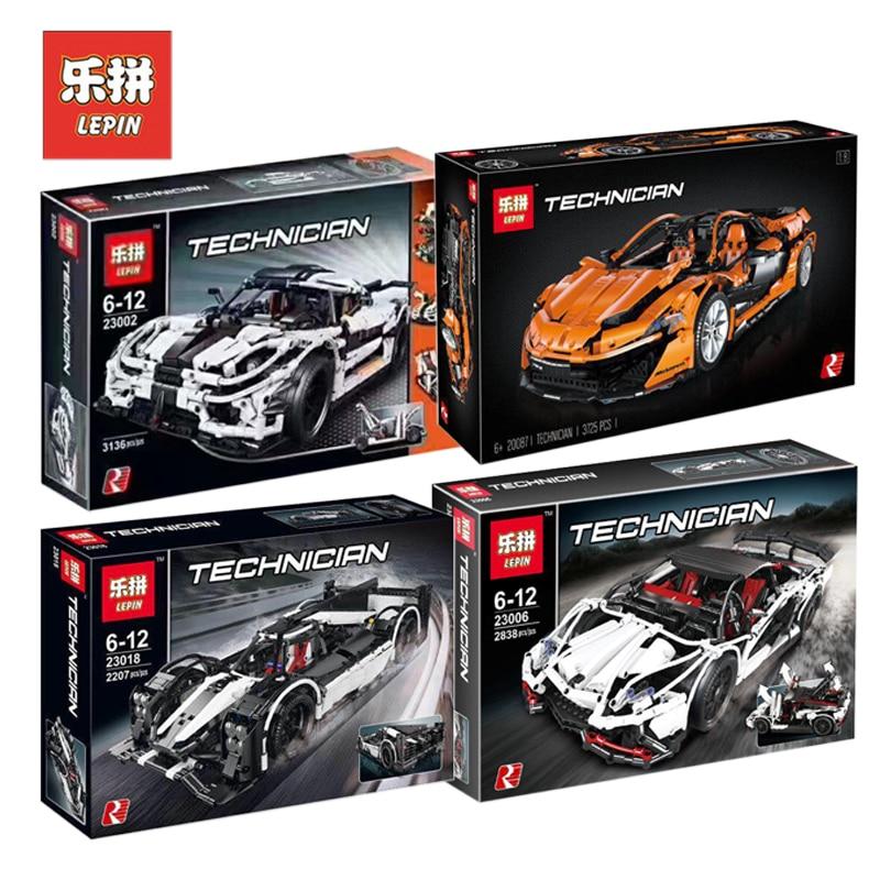 Lepin Ensemble Technique MOC Super voiture de course 23002 23006 20087 23018 Compatible Legoing Modèle Kits de Construction Blocs Briques jouets pour garçon Cadeau