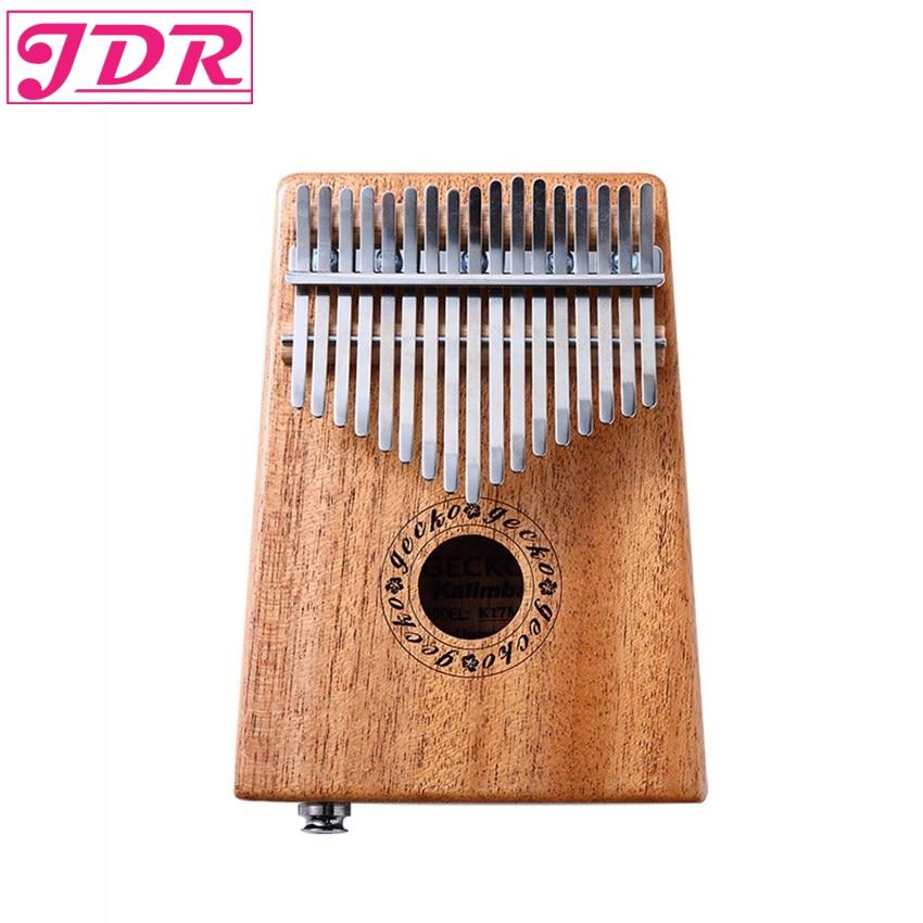 JDR Kalimba Mbira Sanza 10 17 Keys EQ Connector Mahogany Thumb Piano Pocket Size  Supporting Bag Keyboard Musical Instrument the black keys the black keys el camino 2 lp