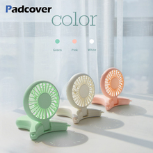 PADCOVER USB fan 3 speed adjustable hanging neck mini fan Handheld fan rechargeable Built-in Battery 2000mAh USB fan