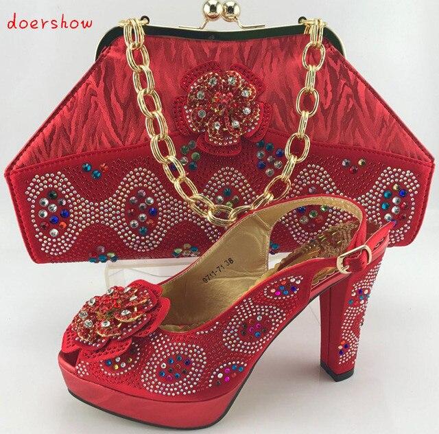 09bb04024efb9 Italie chaussures et sac à assortir ensemble pour le parti Italien femmes  de chaussures et sac