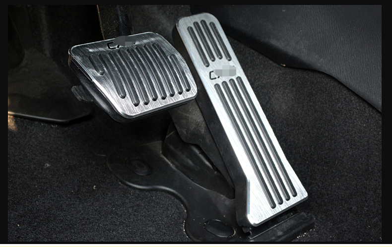 Aluminum alloy Car Accelerator Gas Pedals Brake Pedal Cover AT For <font><b>Mazda</b></font> <font><b>CX</b></font>-<font><b>5</b></font> CX5 <font><b>CX</b></font> <font><b>5</b></font> 2012 2013 2014 <font><b>2015</b></font> <font><b>2016</b></font> <font><b>2017</b></font> Car-Styling image