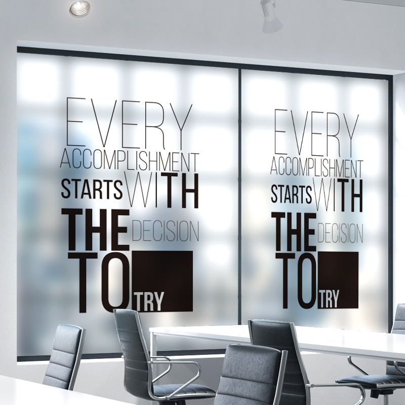 Customized Static Cling Stained Glass Window Film Frosted Opaque & Privacy Office Decor Digital print Removable BLT1017 Success