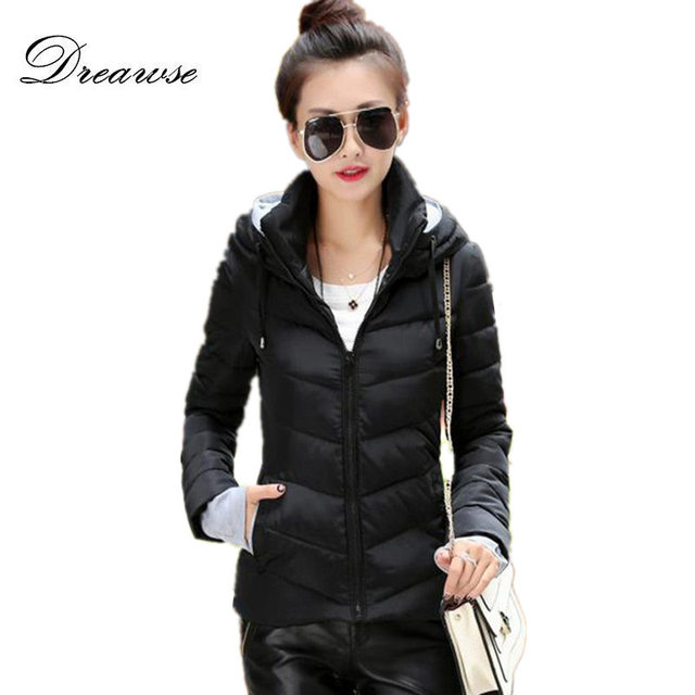 Dreawse Winter Jacket Women Cotton-padded Parkas Thicken Female Coats Hooded Plus Size Chaqueta Invierno Warm Solid Color Coats